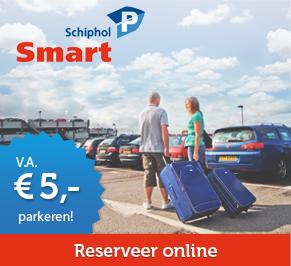 Vergeet niet je kortingscode te gebruiken bij Schiphol Smart Parking